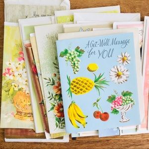 Other - Lot of 16 Vintage Get Well Greeting Cards Unused